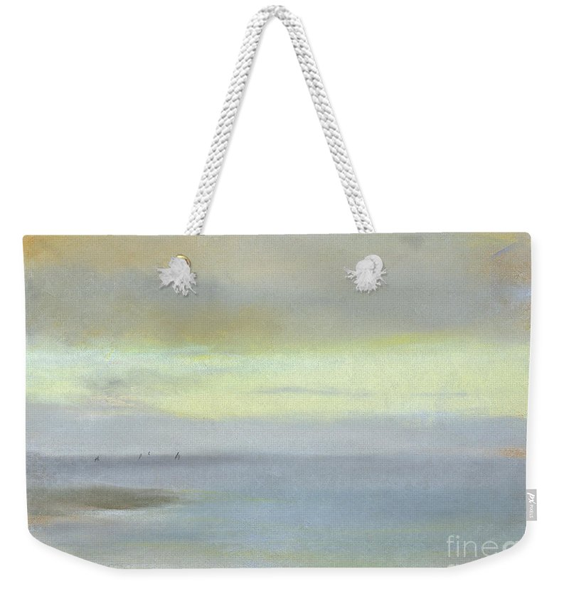 Degas Weekender Tote Bag featuring the painting Marine Sunset by Edgar Degas