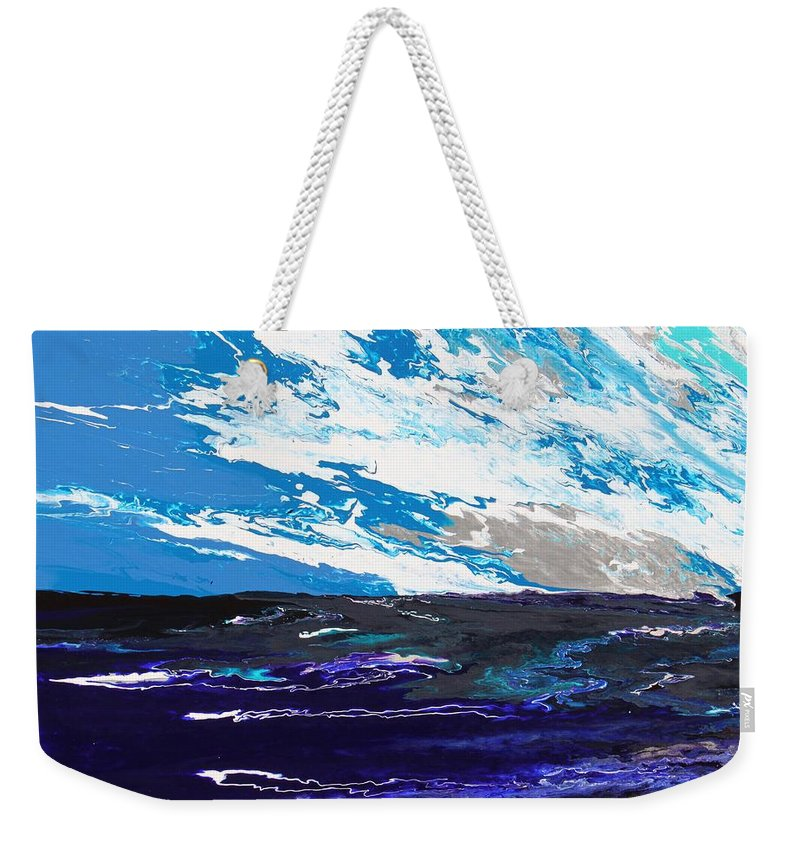 Fusionart Weekender Tote Bag featuring the painting Mariner by Ralph White