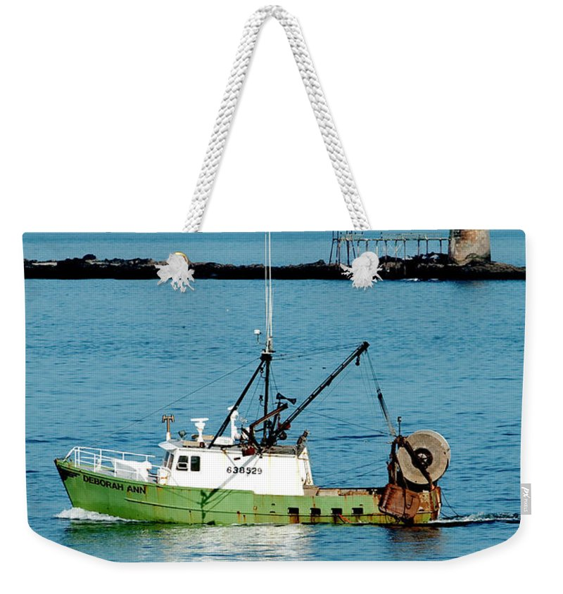 Coast Weekender Tote Bag featuring the photograph Maritime by Greg Fortier