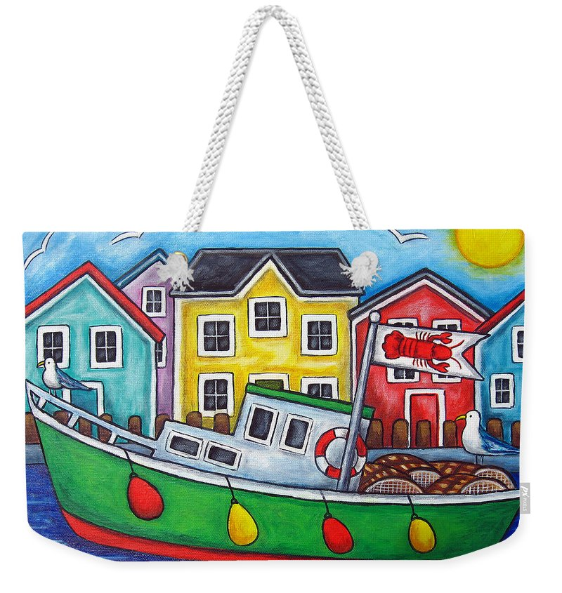 Lisa Lorenz Weekender Tote Bag featuring the painting Maritime Special by Lisa Lorenz