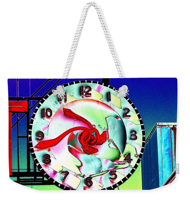 Seattle Weekender Tote Bag featuring the photograph Market Clock 2 by Tim Allen