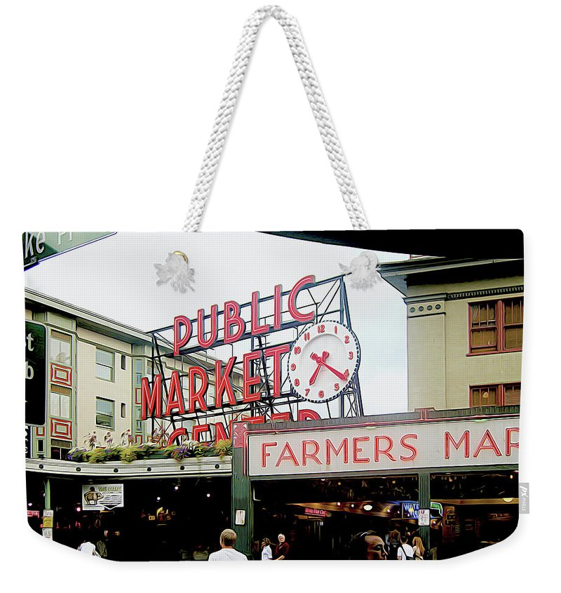 Market Weekender Tote Bag featuring the photograph Market Closeup by Linda Carruth