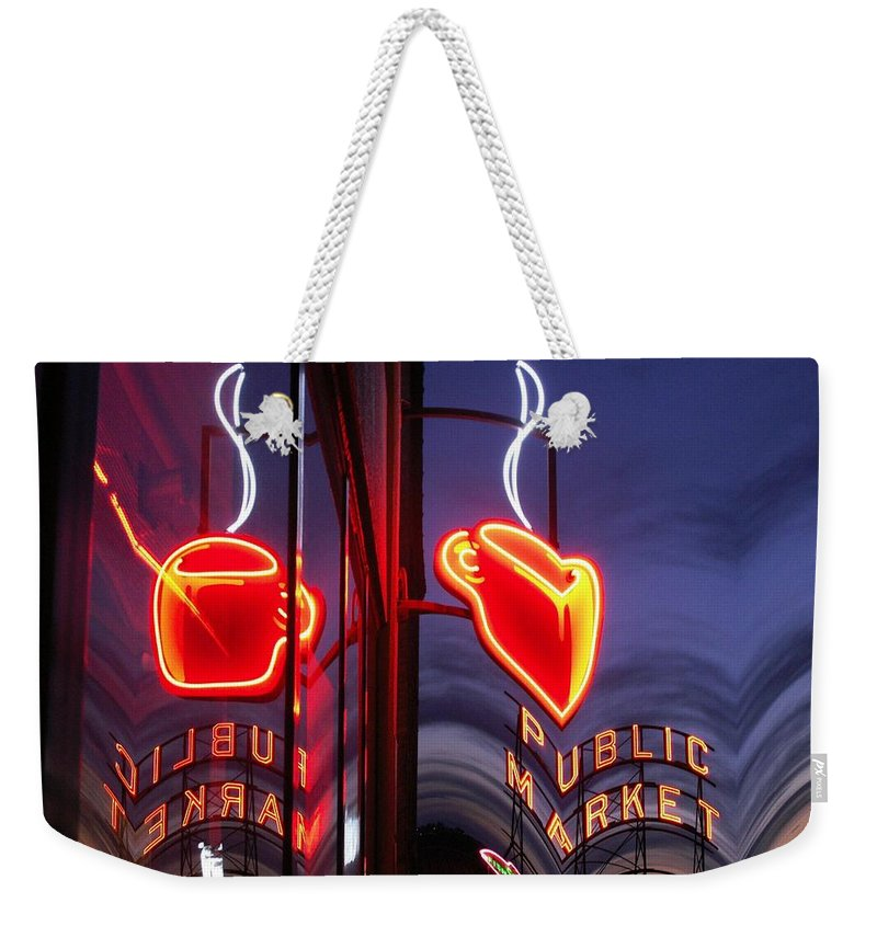 Seattle Weekender Tote Bag featuring the photograph Market Cup 2 by Tim Allen