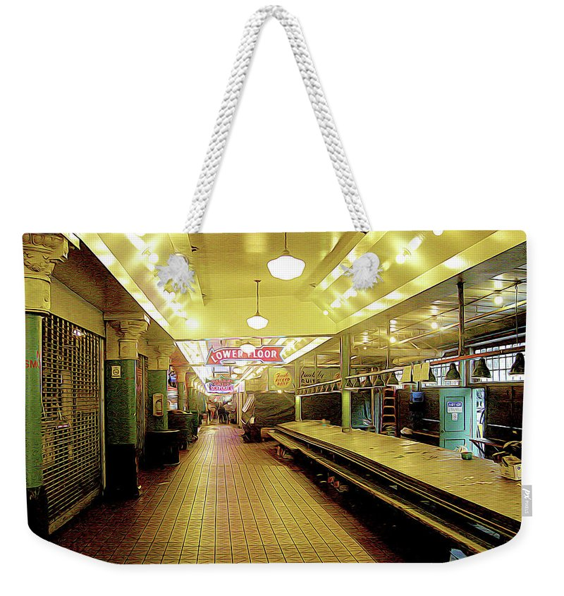 Seattle Weekender Tote Bag featuring the photograph Market Day Is Done by Linda Carruth