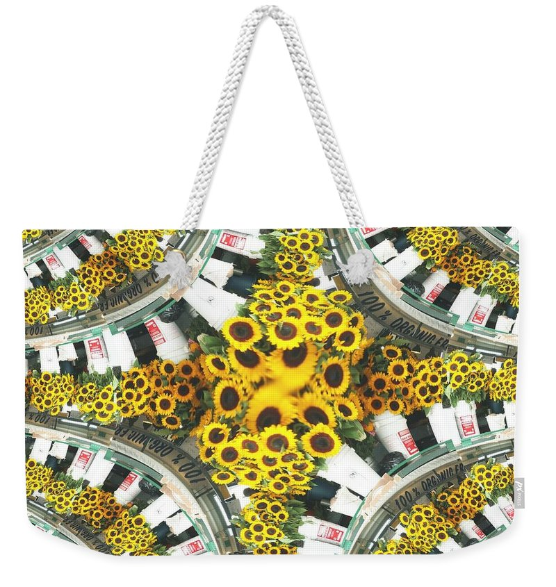 Flowers Weekender Tote Bag featuring the photograph Market Flowers by Tim Allen