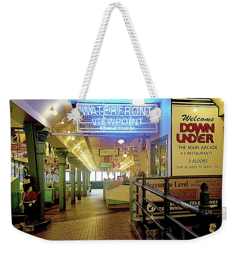 Market Weekender Tote Bag featuring the photograph Market Hall by Linda Carruth