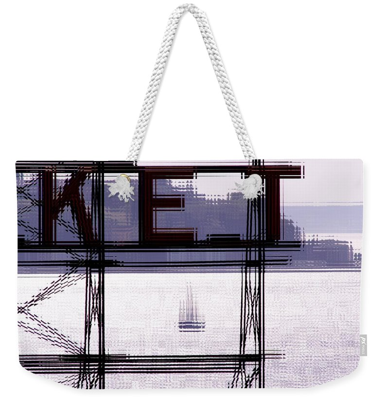 Seattle Weekender Tote Bag featuring the digital art Market Sail by Tim Allen