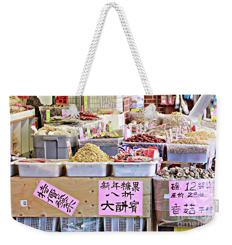 2015 Weekender Tote Bag featuring the photograph Market Way by Dorothy Hilde
