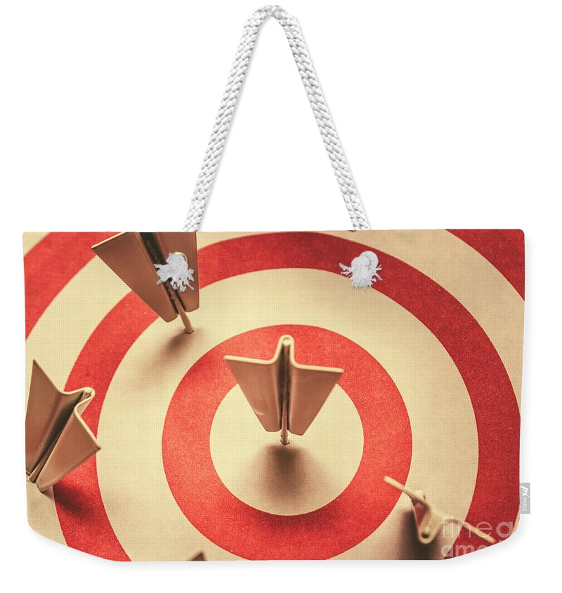 Target Weekender Tote Bag featuring the photograph Marketing Your Target Market by Jorgo Photography - Wall Art Gallery
