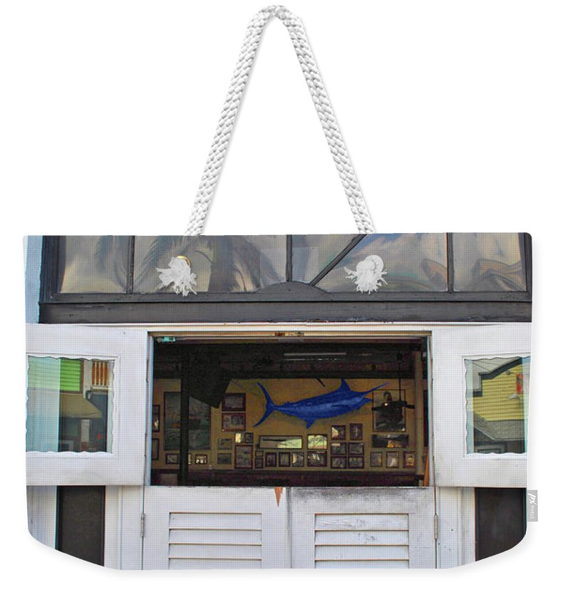 Sloppy Weekender Tote Bag featuring the photograph Marlin Joes by Jost Houk