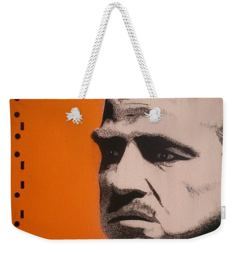 The Godfather Weekender Tote Bag featuring the painting Marlon Brando by Gary Hogben