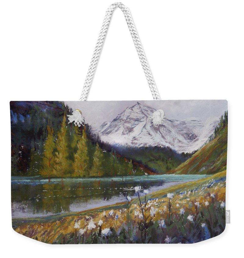 Maroon Lake Weekender Tote Bag featuring the photograph Maroon Lake by Heather Coen
