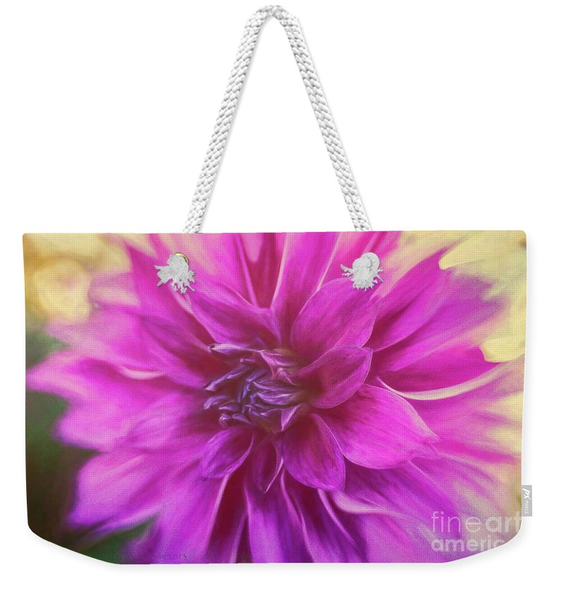 Dahlia Weekender Tote Bag featuring the photograph Marrianne by Jean OKeeffe Macro Abundance Art