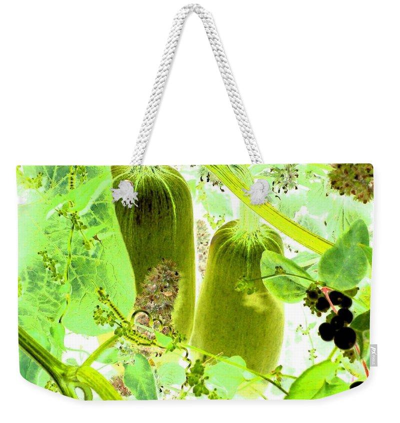 Marrow Weekender Tote Bag featuring the digital art Marrow Mania by Will Borden