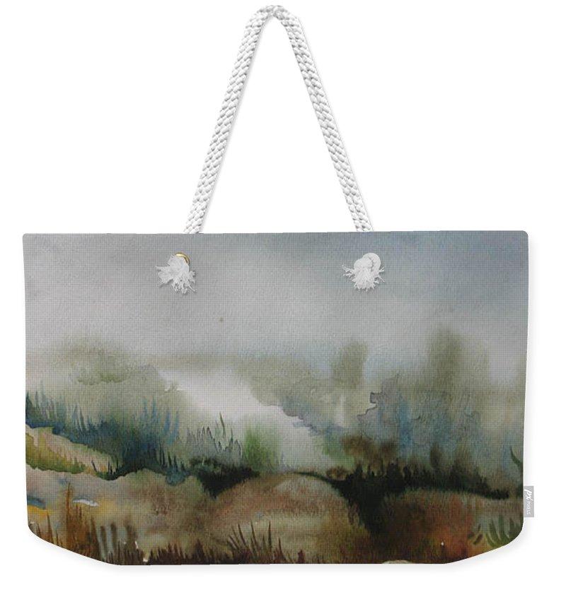 Marsh Weekender Tote Bag featuring the painting Marsh by Anna Duyunova