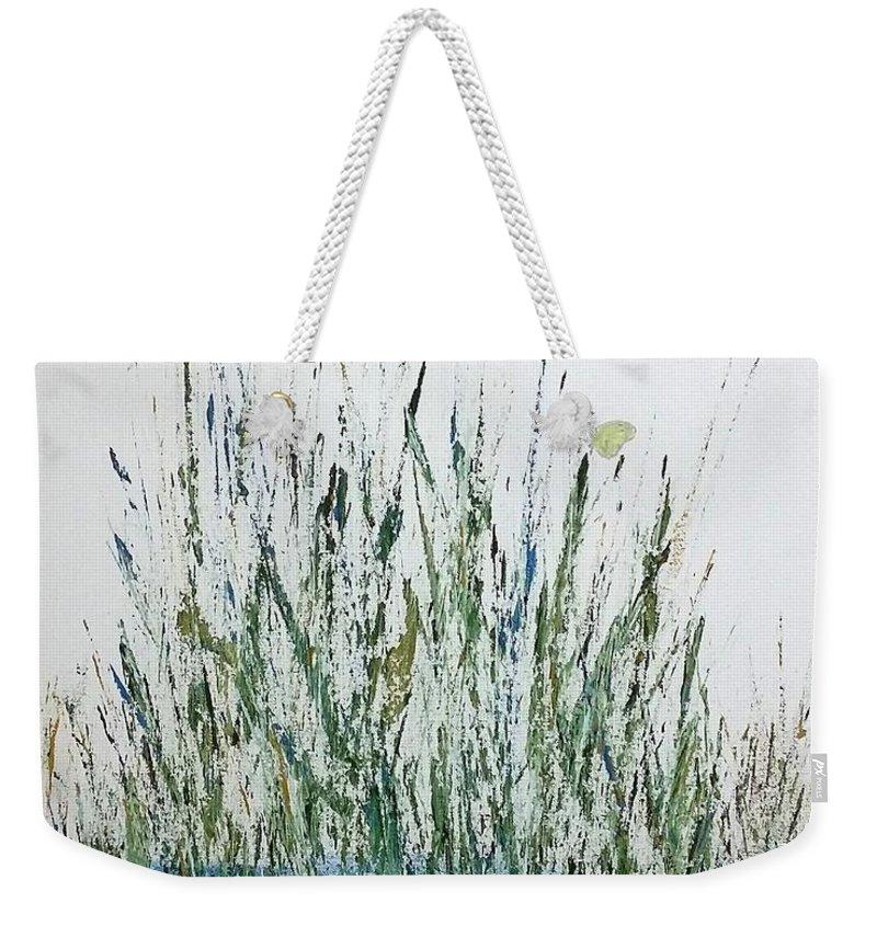 Marsh Weekender Tote Bag featuring the painting Marsh Life II by Linda Wimberly