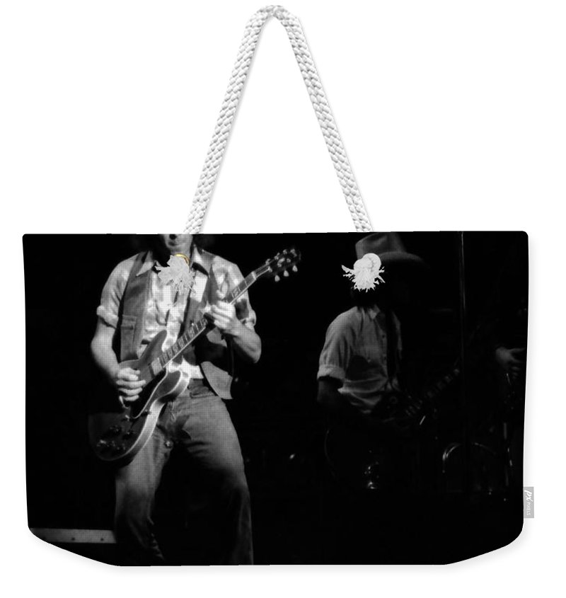 Elvin Bishop Weekender Tote Bag featuring the photograph Marshall Tucker Winterland 1975 #38 With Elvin by Ben Upham