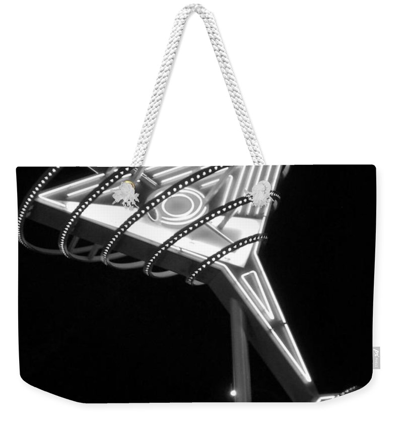 Martini Weekender Tote Bag featuring the photograph Martini Sign B-w by Anita Burgermeister