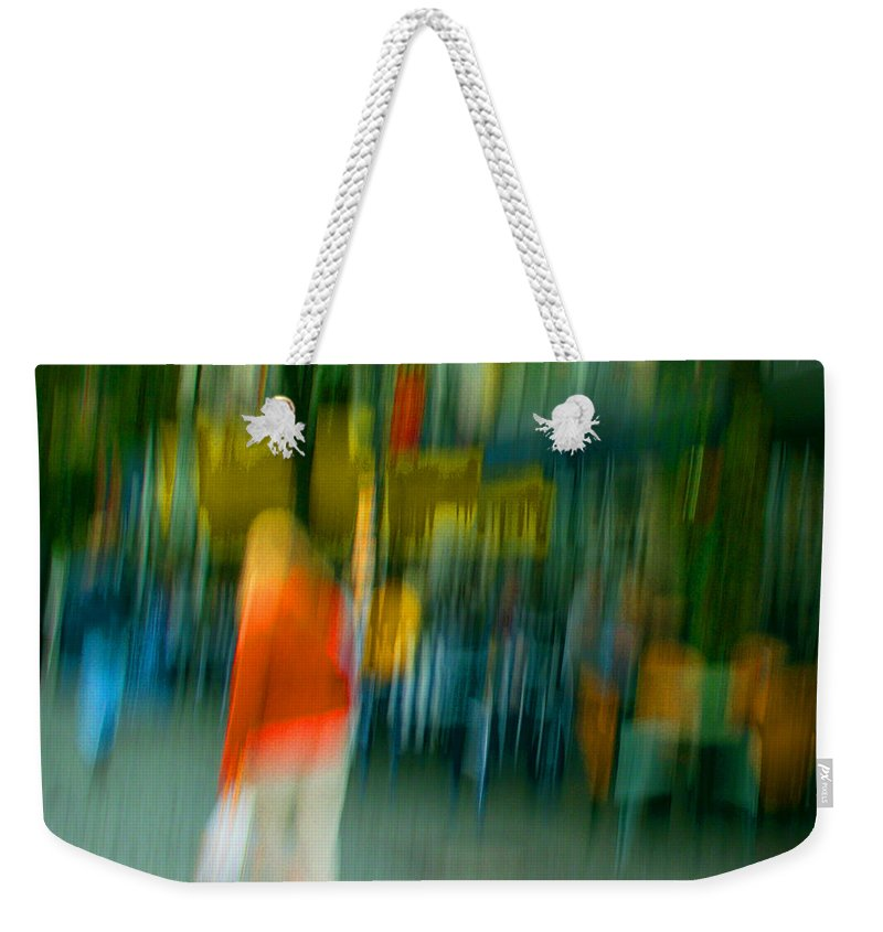 Abstract Weekender Tote Bag featuring the photograph Mary Jane by Dorit Fuhg