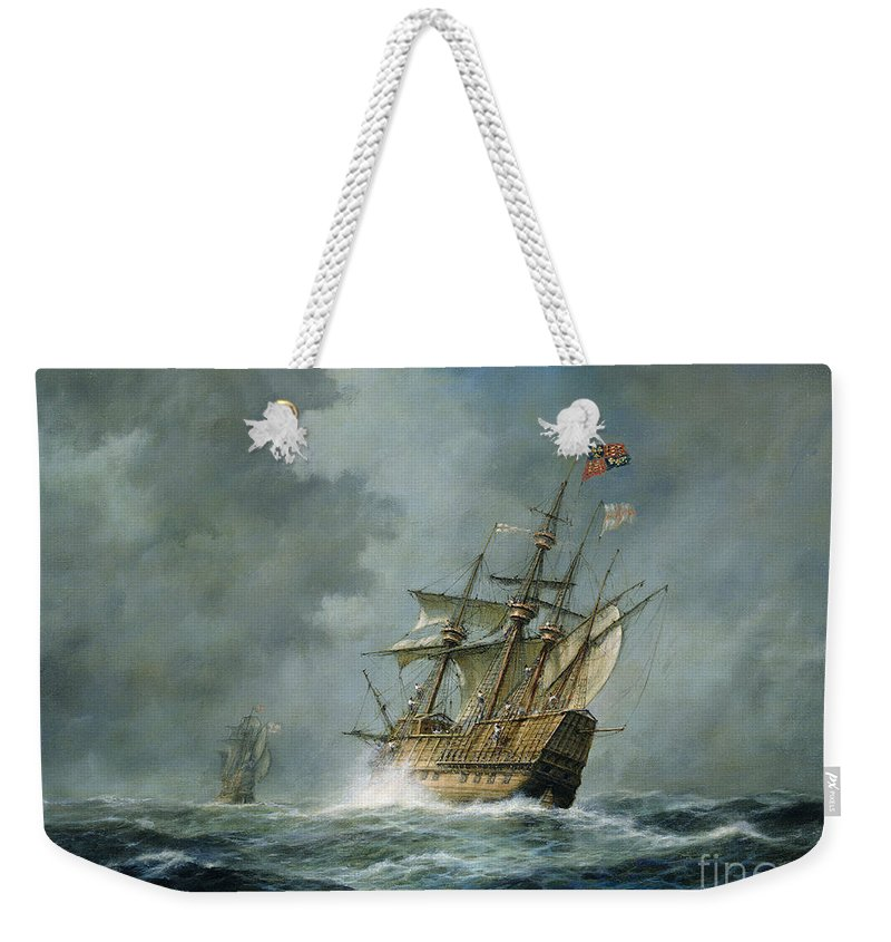 Mary Rose Weekender Tote Bag featuring the painting Mary Rose by Richard Willis