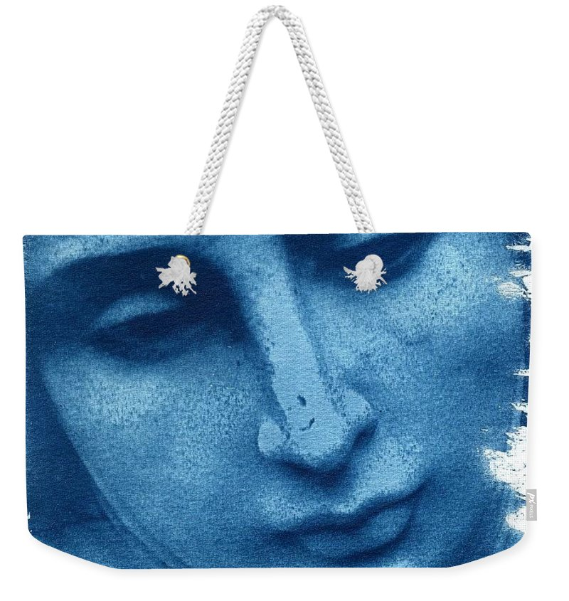 Blue Weekender Tote Bag featuring the photograph Marys Blues by Jane Linders