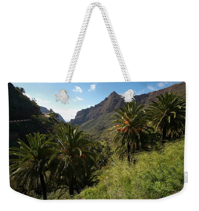 Landscape Weekender Tote Bag featuring the photograph Masca Valley And Parque Rural De Teno 2 by Jouko Lehto