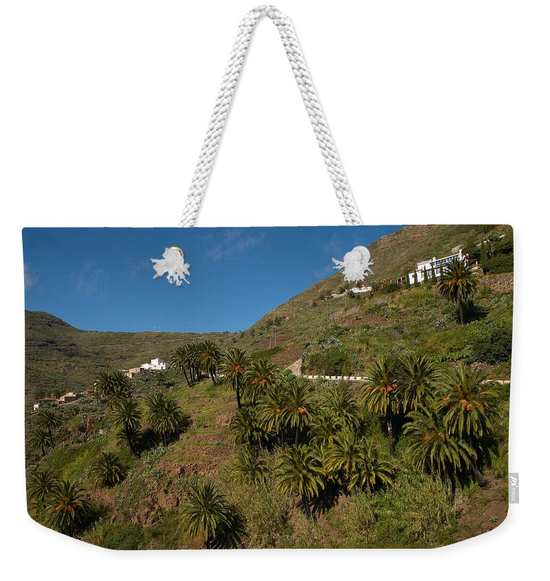 Landscape Weekender Tote Bag featuring the photograph Masca Valley And Parque Rural De Teno 3 by Jouko Lehto