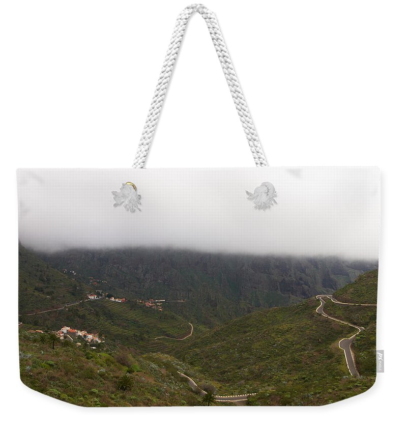 Landscape Weekender Tote Bag featuring the photograph Masca Valley And Parque Rural De Teno 6 by Jouko Lehto
