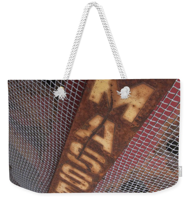 Massey Harris Weekender Tote Bag featuring the photograph Masey Harris by Jeffery Ball