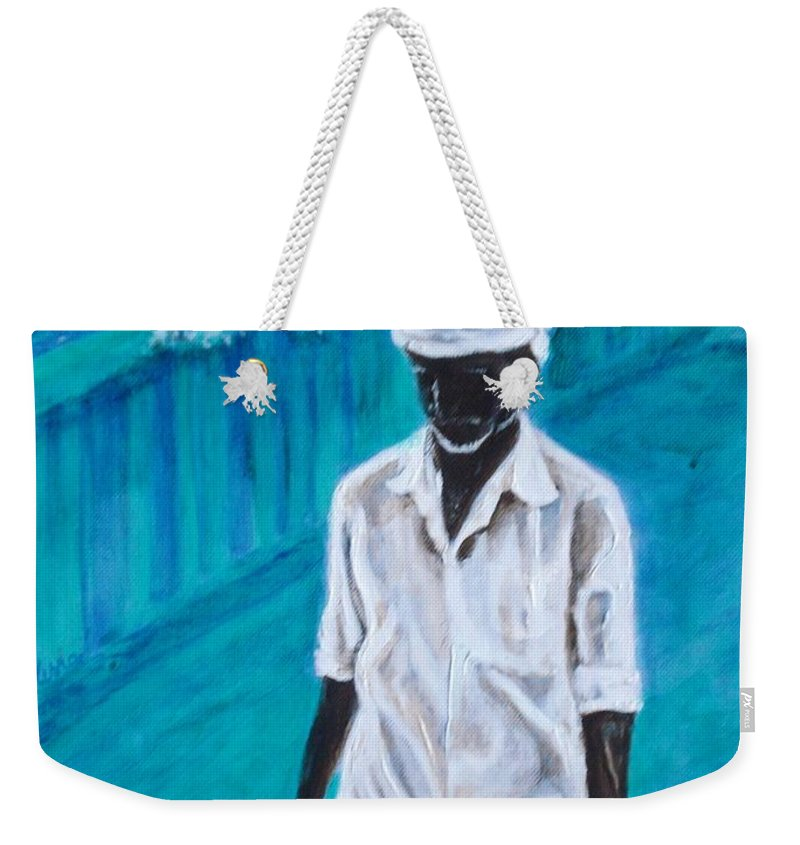 Usha Weekender Tote Bag featuring the painting Mason by Usha Shantharam
