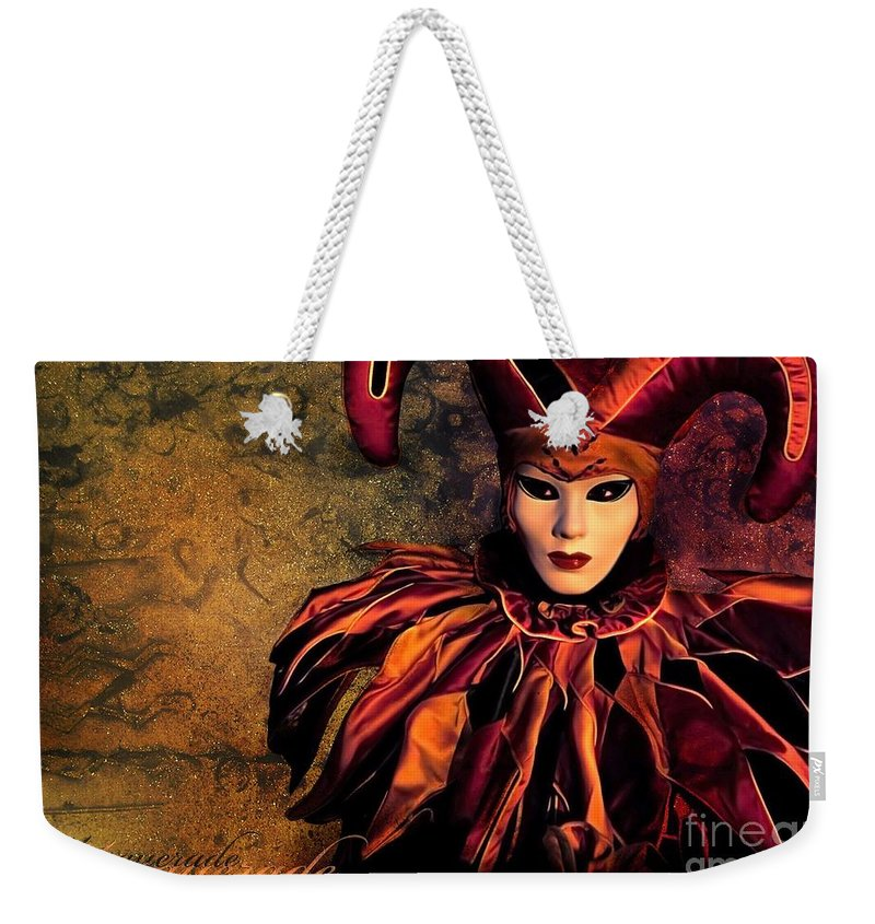 Mask Weekender Tote Bag featuring the photograph Masquerade by Jacky Gerritsen