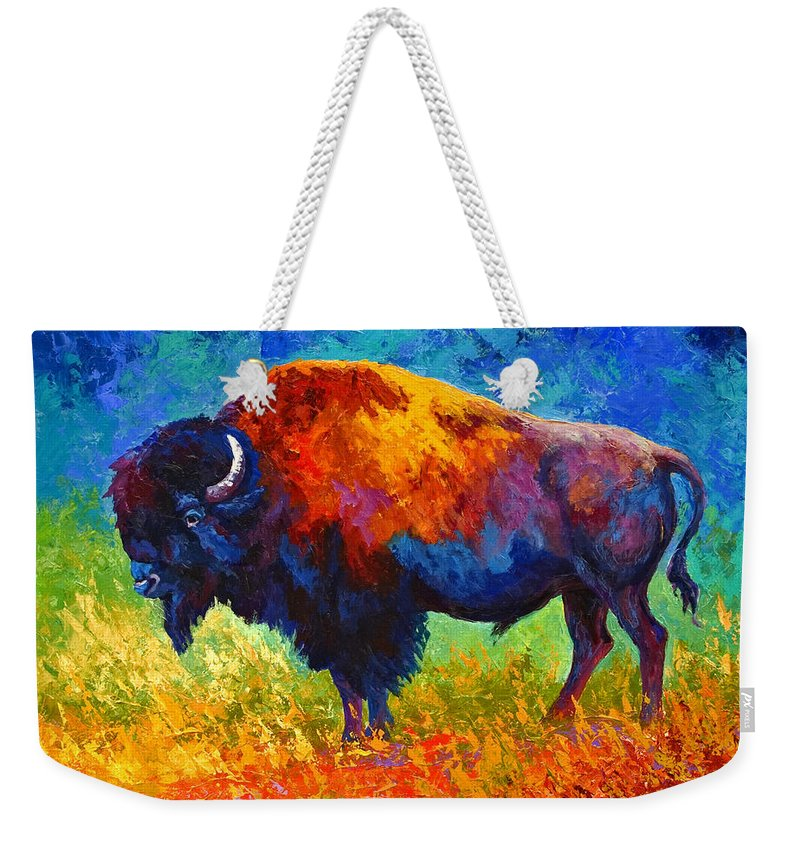 Wildlife Weekender Tote Bag featuring the painting Master Of His Herd by Marion Rose