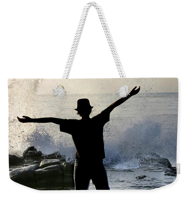 Ocean Weekender Tote Bag featuring the photograph Master Of The Ocean by Anthony Jones