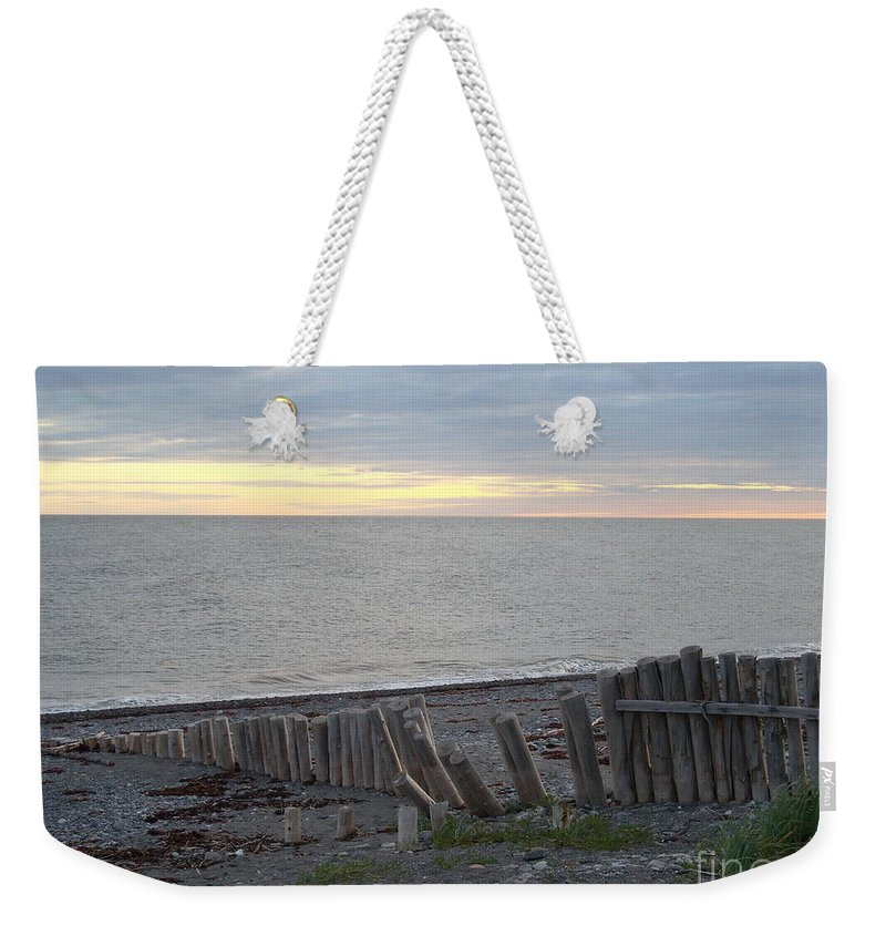 Seascape Weekender Tote Bag featuring the photograph Matane In The Morning... by Line Gagne