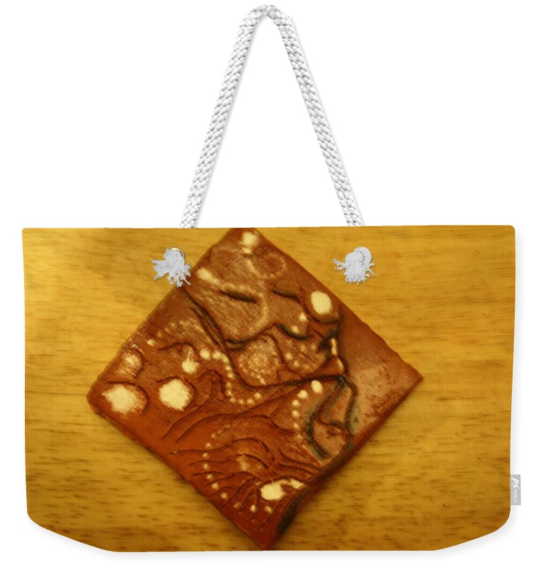 Jesus Weekender Tote Bag featuring the ceramic art Mateka - Tile by Gloria Ssali