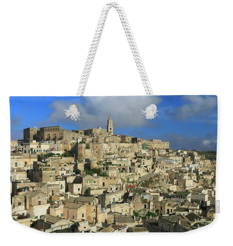 Achitecture Weekender Tote Bag featuring the photograph Matera Italy by Ivan Pendjakov