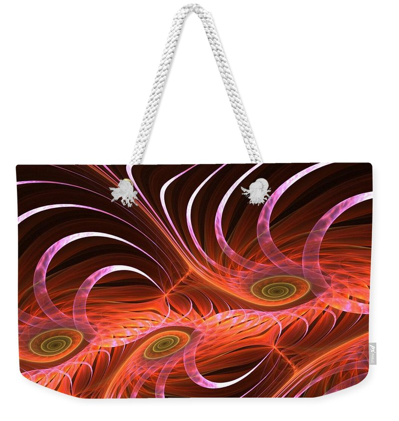 Digital Painting Weekender Tote Bag featuring the digital art Matrix by David Lane
