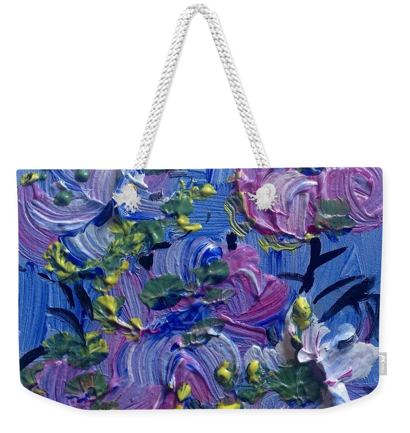 Beautiful Weekender Tote Bag featuring the painting Matter Of Fact Your Beautiful by Judith Desrosiers