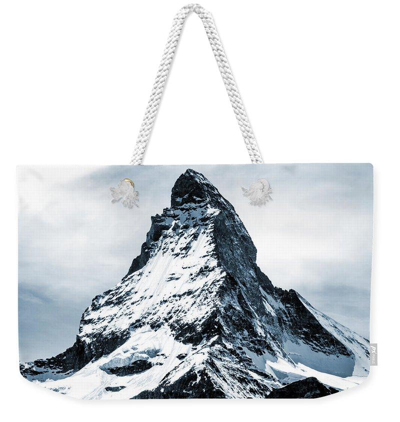 Matterhorn Weekender Tote Bag featuring the mixed media Matterhorn by Design Turnpike