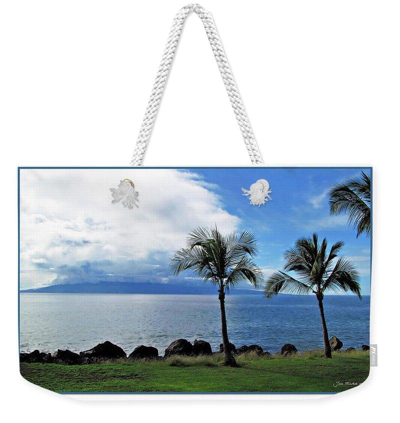 Beach Weekender Tote Bag featuring the digital art Maui Clouds by Joan Minchak