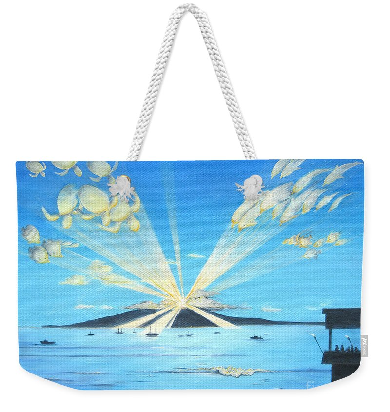 Maui Weekender Tote Bag featuring the painting Maui Magic by Jerome Stumphauzer