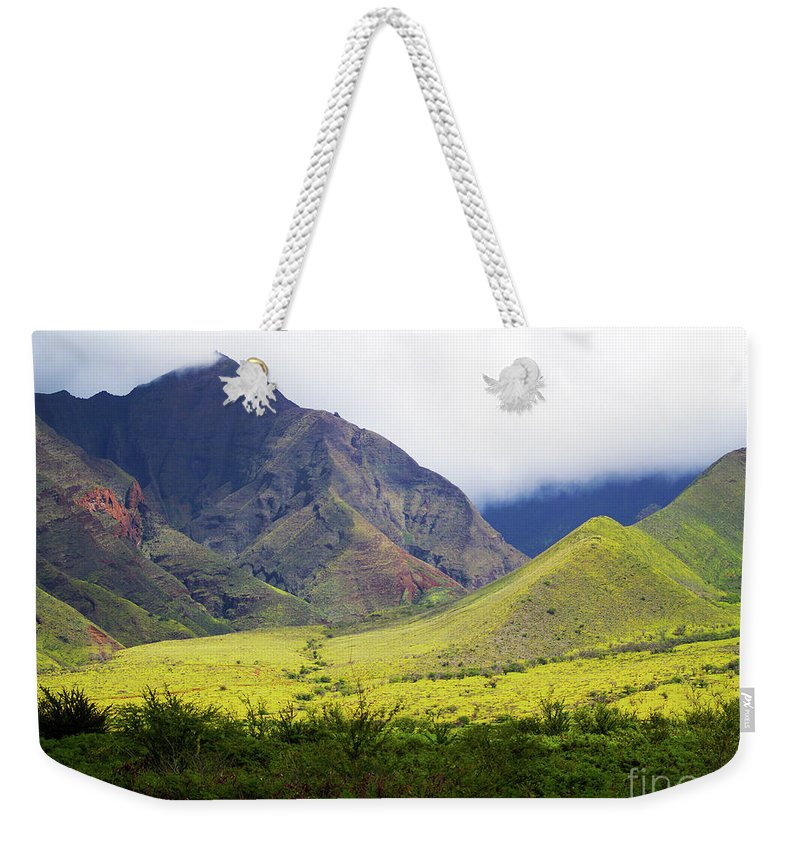 Fine Art Photography Weekender Tote Bag featuring the photograph Maui Mountains by Patricia Griffin Brett