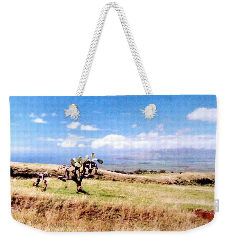 1986 Weekender Tote Bag featuring the photograph Maui Upcountry by Will Borden