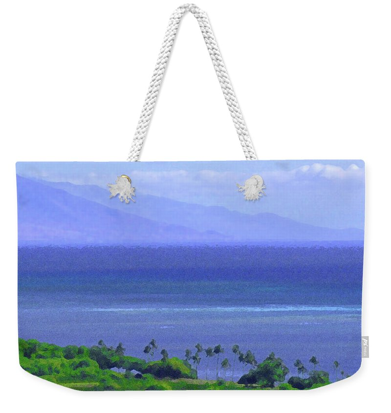 Maui Weekender Tote Bag featuring the photograph Maui View by James Temple