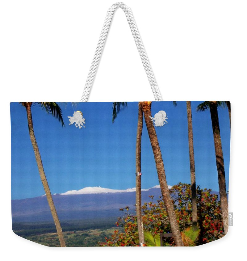Hawaii Weekender Tote Bag featuring the photograph Mauna Kea by Dina Holland