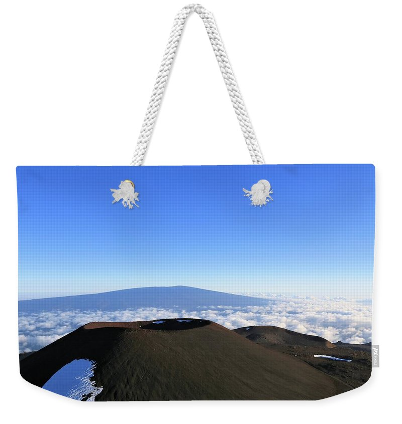 Photosbymch Weekender Tote Bag featuring the photograph Mauna Loa In The Distance by M C Hood