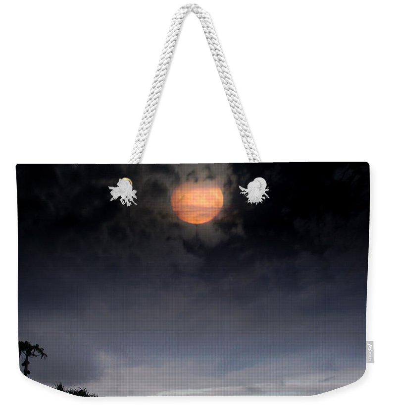 Aloha Weekender Tote Bag featuring the photograph Maunaleo Journey With Spirit by Sharon Mau