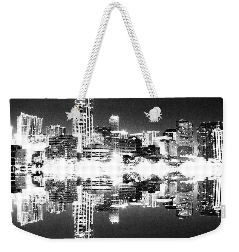 Cityscape Weekender Tote Bag featuring the photograph Maxed Cityscape by Angus Hooper Iii
