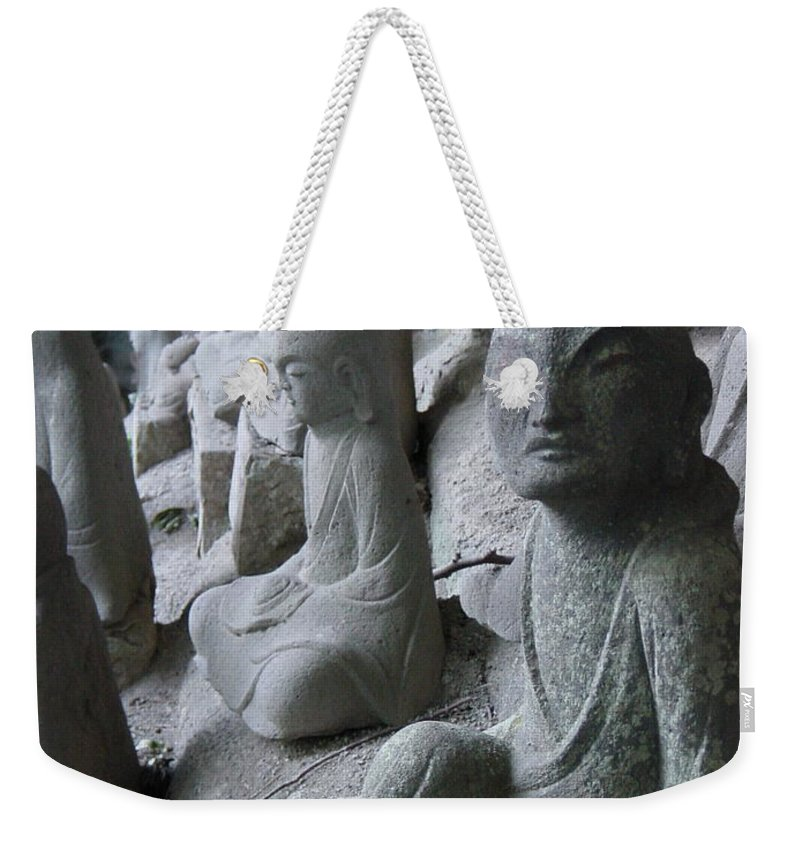 Statues Weekender Tote Bag featuring the photograph May I Help You by D Turner