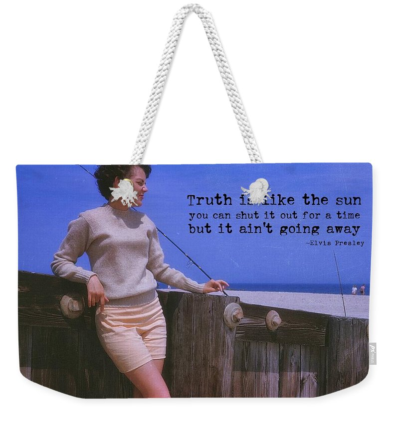 Truth Weekender Tote Bag featuring the photograph May September Romance Quote by JAMART Photography
